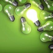 Bulbs on Green Wallpaper