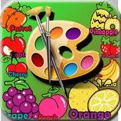 Livro para colorir Frutas